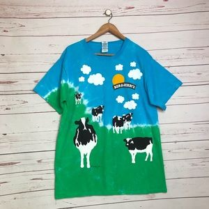 Vintage Ben and Jerry's tie dye chunky cow shirt